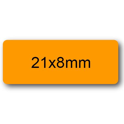 wereinaristea Etichette autoadesive Tik-Fix. a perfetto registro. mm 21x8 (8x21) ARANCIONE, in foglietti da mm 116x170, 70 etichette per foglio, (10 fogli).