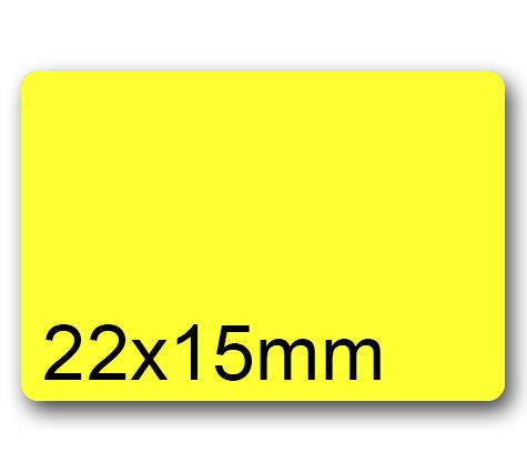 wereinaristea Etichette autoadesive Tik-Fix. a perfetto registro. mm 22x15 (15x22) GIALLO, in foglietti da mm 116x170, 42 etichette per foglio, (10 fogli).