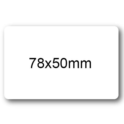 wereinaristea Etichette autoadesive Tik-Fix, a registro, mm 78x50 (50x78) BIANCO, in foglietti da mm 116x170, 4 etichette per foglio, (10 fogli).