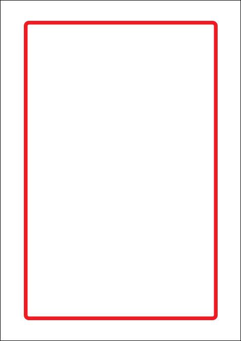 carta Carta personalizzata con bordo -rosso- per stampanti laser & inkjet. Formato a4 (21x29,7 cm), 95gr x mq, personalizzata a tema.