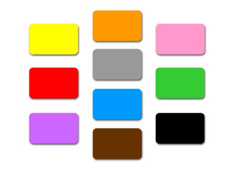 wereinaristea Etichette autoadesive mm 110x34 (34x110) COLORI ASSORTITI, adesivo permanente, su foglietti da cm 15,2x12,5. 9 etichette per foglietto.  La confezione contiene 9 etichette per ognuno dei seguenti colori: GIALLO, ROSA, ARANCIONE, ROSSO, GRIGIO, VERDE, VIOLA, AZZURRO, MARRONE, NERO.