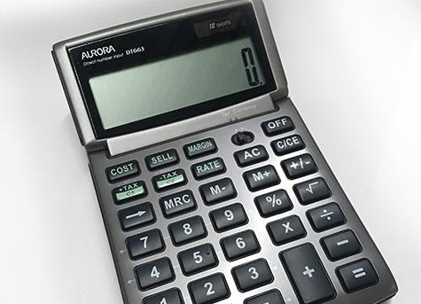 gbc Calcolatrice da tavolo a 12 cifre con schermo orientabile doppia alimentazione: solare e batteria. Guscio rigido di protezione incernierato. Calcolatrice portatile , dimensioni 50x95x10, 4 operazioni, percentuale, radice quadrata, memorie..