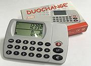gbc DuoChange. L'unico convertitore con il tasto del resto Calcolatrice portatile , dimensioni 54x86x9mm, Esegue anche le 4 operazioni.