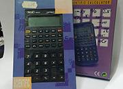 gbc Calcolatrice scientifica a 10 cifre, Calcolatrice portatile , dimensioni 75x130x12mm, completa di manuale e custodia in similpelle.